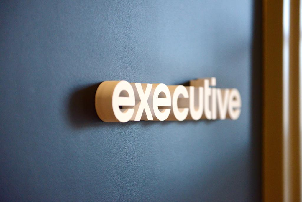 'executive' office door sign letters made with 1 inch acrylic