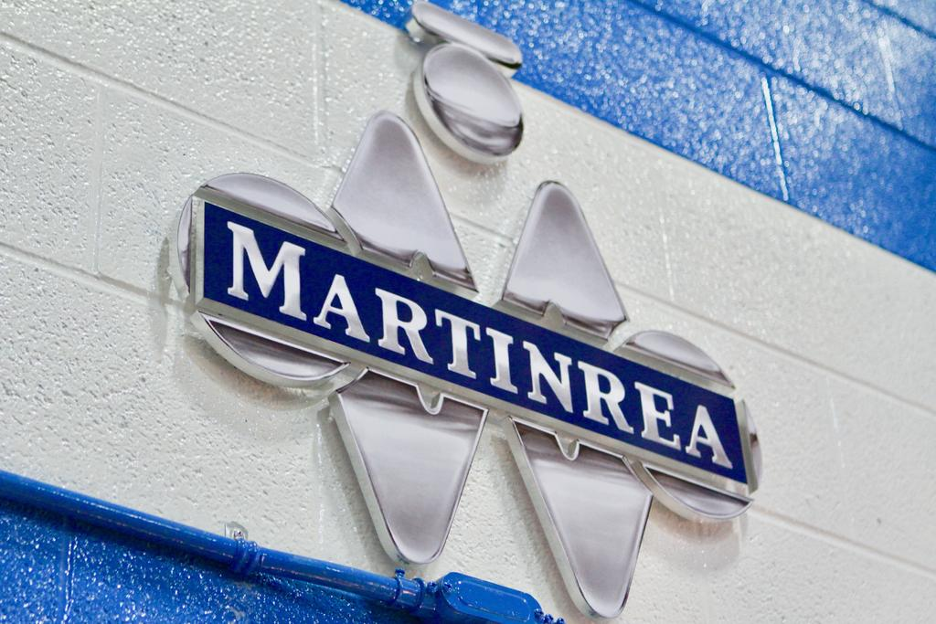 Custom Wall Mounted Chrome Sign for Martinrea