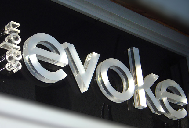 Elegant dimensional acrylic sign designed at artsigns for Acrylic dimensional letters