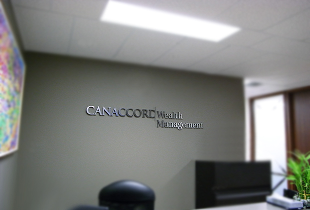 office design 3d corporate logo metal sign made by art
