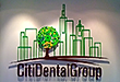 Offices signs, dimensional corporate office sign with mirror finish and clear gereen edges for City Dental Group New York, office wall, wall decor