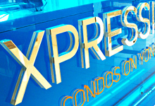 Xpression Condominium and Sales Center Signs