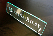 Custom nameplate sign deep engraving plaques for corporate offices can be used as name tags for the desktop space in conference rooms boardrooms or as a name badges