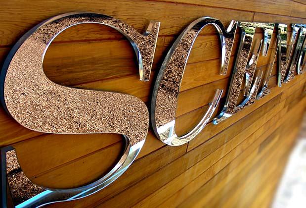 GREAT MIRROR design 3d mirror Signage for condo sales