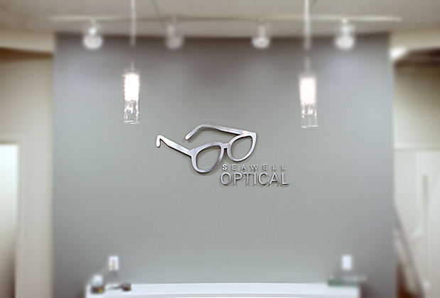 3D OFFICE SIGN & DESIGN sign OFFICE for Seawell Optical custom ...