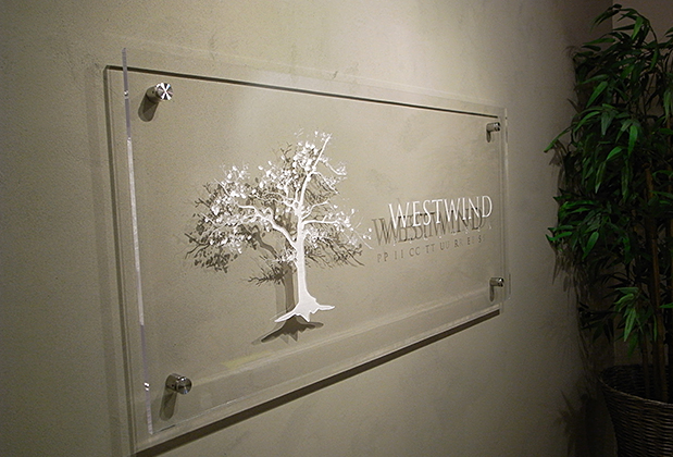 engraved custom design sign 3 dimensional corporate office sign ideas